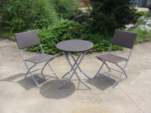 Hotel Rattan Patio Outdoor Furniture Table and Chair (FS-2290+FS-2293) pictures & photos