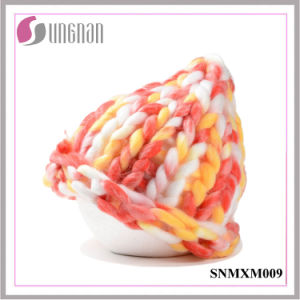 Fashion Lovely Crude Wool Twist Fisherman Ladies Cap (SNMXM009) pictures & photos