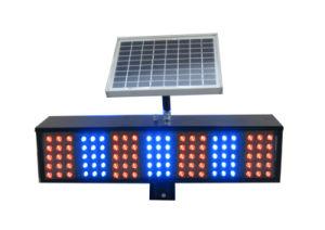 Red Blue Solar LED Traffic Light Blinker Traffic Warning Light pictures & photos