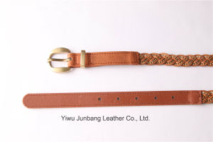 New Fashion Women′s Braided Belt Weave Belt -Jbe1634 pictures & photos