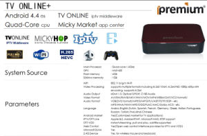 Live Streaming and VOD Stalker Middleware IPTV Box pictures & photos