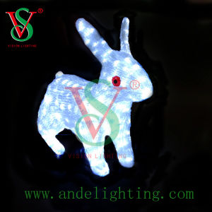 LED 3D Rabbit Motif Light pictures & photos