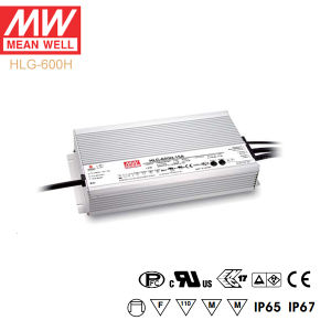 Original Meanwell Hlg-600h Series Single Output Waterproof IP67 LED Driver pictures & photos