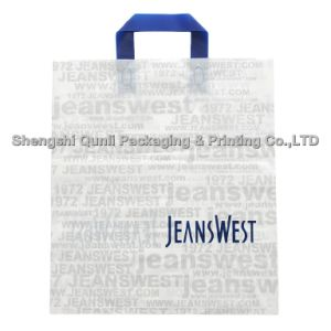 Degradable Plastic Bag with Soft Loop Handle (SSQL-PL-A006)