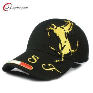 The Horse Racing Car Design Black Baseball Cap (09006) pictures & photos
