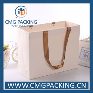 White Paper Matt Lamination Clothing Carrier Bag (CMG-MAY-009) pictures & photos