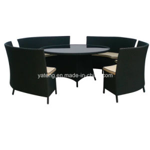New Design High Standard PE-Rattan Aluminum Furniture Hotel Big Round Table &Chair Restaurant Set Family Set (YT273) pictures & photos