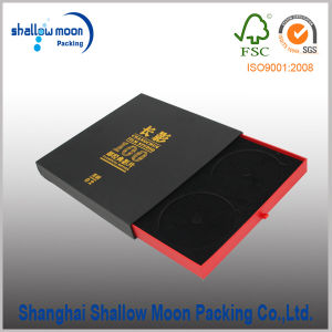 Customized Foil Black Paper CD Box Packaging (QYCI15224) pictures & photos