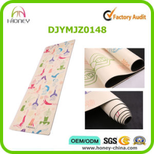 Professional Yoga Mat, Natural Tree Rubber+Ultra Absorbent Microfiber, Eco Friendly, Machine Washable. pictures & photos