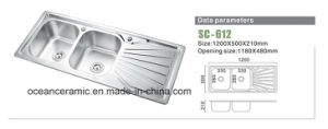 Sc-133 Single or Double Bowls of Stainless Steel Kitchen Sink pictures & photos