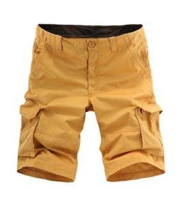Fashion Men′s Cotton Loose Fit Multi Pocket Cargo Shorts pictures & photos