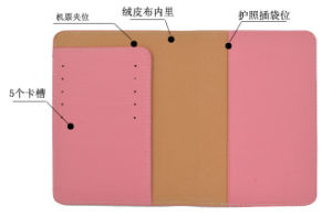 PVC Vinyl PU Grain Leather Passport Holder pictures & photos