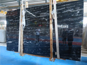 Silver Portoro Black Marble, Marble Slabs Tiles From China pictures & photos
