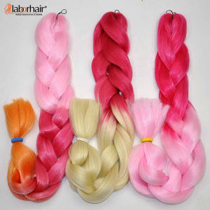 Synthetic Hair Ombre Two Tone Coloured 100% Kanekalon Jumbo Box Braid Hair Extension Lbh 048 pictures & photos