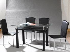 1007 Modern Metal Dining Sets pictures & photos