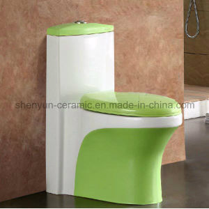 One-Piece Toilet Bathroom Color Toilet (A-035) pictures & photos