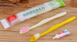 2 in 1 Dentail Set: Toothbrush +2g Toothpaste pictures & photos