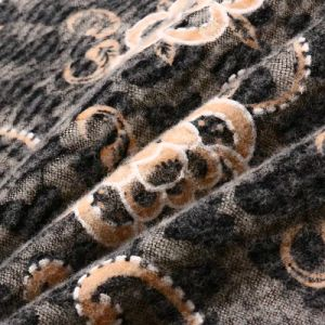 Burnt-out Woolen Fabric of High Quality pictures & photos