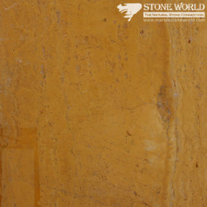 Polished Yellow Travertine Slabs for Flooring & Wall (MT082) pictures & photos