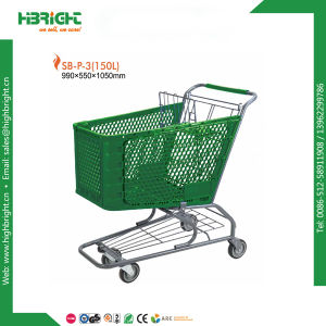 American Style Retail Plastic Shopping Cart for Sale P-4 pictures & photos