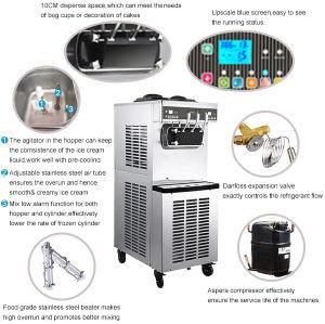 Pasmo High Quality Soft Ice Cream Machine/CE Certificated
