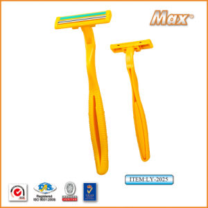 Twin Stainless Steel Blade Disposable Razor Fro Man (LY-2025) pictures & photos