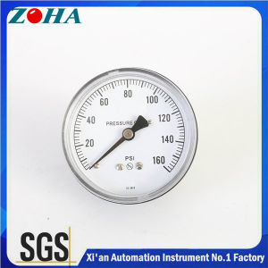 Axial Normal Pressure Gauges with Tin-Phosphor  Bronze Bourdon Tube pictures & photos