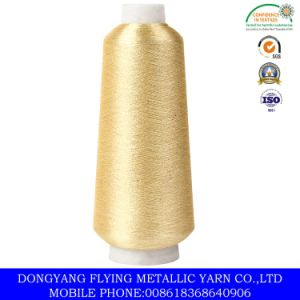 Metallic Yarn in Pure Gold, 150d Polyester Yarn Supported