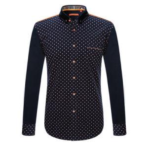 Factory Men Button Cotton Shirt Printed Fashion Dress Shirt pictures & photos
