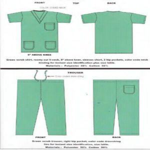 Ly Polyester Cotton Work Doctors Scrub Suits pictures & photos