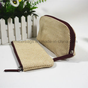 New Arrival Woven Pattern Polyester Zipper Bag for Cosmetic, Makeup pictures & photos