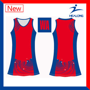 Healong Cheap Price with High Quality Sports Gear Sublimation Ladies Netball Wears for Sale pictures & photos