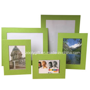 Assorted Color Green Textured Art Paper Promotional Gift Photo Frame pictures & photos