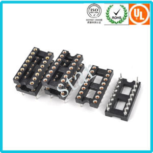 Factory Supply 16 Pin IC Socket 2.54mm Pitch Double Row Pin Header pictures & photos