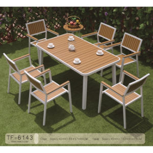 Wooden Plastic Cast Aluminum Outdoor Patio Garden table Furniture
