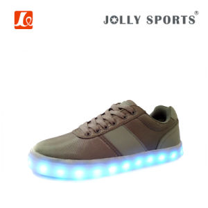 Footwear OEM with LED Light Comfort Sports Casual Shoes for Men pictures & photos