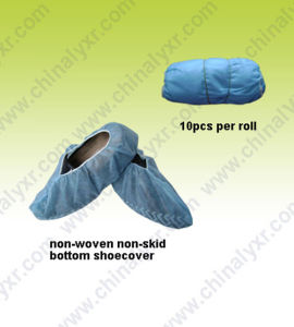 Nonwoven PE Shoecovers Anti-Skid (LY-NSC-SB) pictures & photos