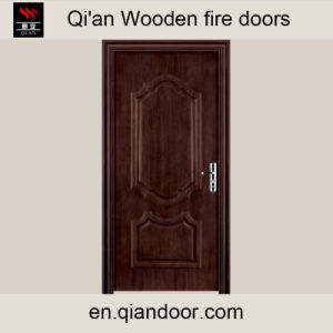 China Supplies Black Walnut Office Fire Door pictures & photos