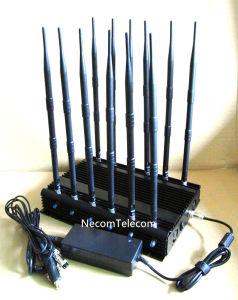 Stationary 12 Channels All Bands Cellular Phone Jammer/Blocker; 2g+3G+2.4G+4G+GPS Mobile Phone Signal Isolator pictures & photos