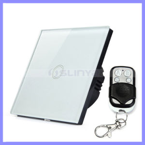 EU Style Home Automation Touch Screen 1 Gang Remote Control WiFi Light Switch pictures & photos