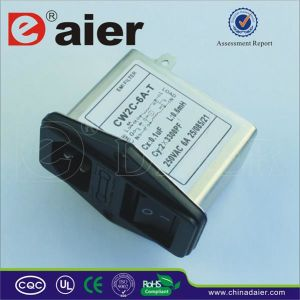 6A 220V AC Socket EMI Filter for Power System pictures & photos