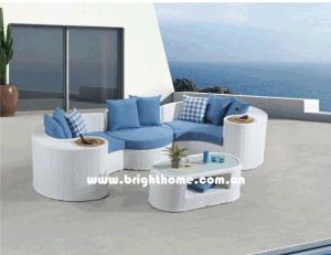 White Color Sectional Sofa Outdoor Garden Furniture Bp-873A pictures & photos