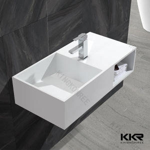 Bathroom Cabinet Acrylic Solid Surface Wash Hand Basin pictures & photos
