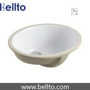 Ceramic Oval Under Mounted Sink for Lavatory Toilet (203) pictures & photos