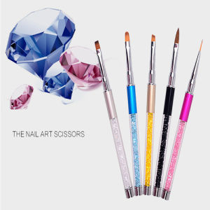 Crystal Handle Nail Art Care Tools Crystal Gel Brush Set pictures & photos
