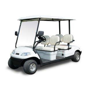 Four Wheel Ce Approved Electric Golf Car with 4 Seaters pictures & photos