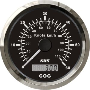 Best Price! ! ! 85mm GPS Speedometer 60L with Backlight Black Faceplate pictures & photos