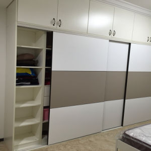 Customised Phywood Wardrobes with Leather Sliding Door pictures & photos