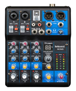 4 Mono 2 Band EQ Professional Audio Mixer Mc04X pictures & photos