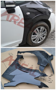 Carbon Fiber Front Wheel Fender for Honda Jazz Fit 2014 pictures & photos